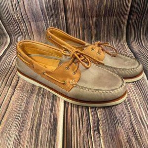 Sperry Men's Gold Cup Authentic Original Boat Shoe - Grey Brown Size 9